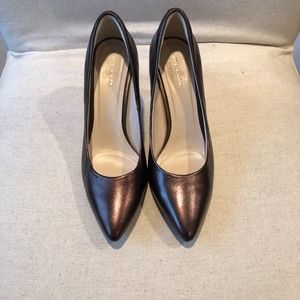 Cole Haan heels bronze leather NEW
